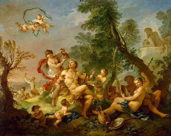 Painting - Bacchanal by Charles-Joseph Natoire