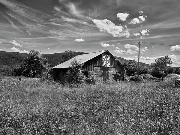 Wall Art - Photograph - Barn In A Field With Mountain Range by Panoramic Images