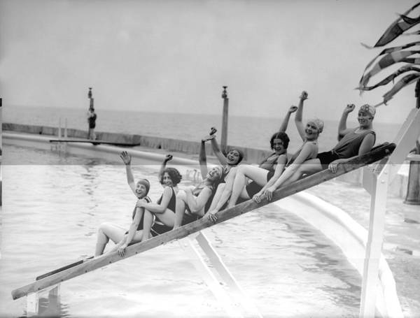 Margate Photograph - Bathing Belles by Fox Photos