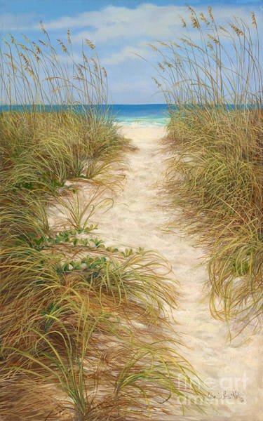 Coconut Painting - Beach Access by Laurie Snow Hein