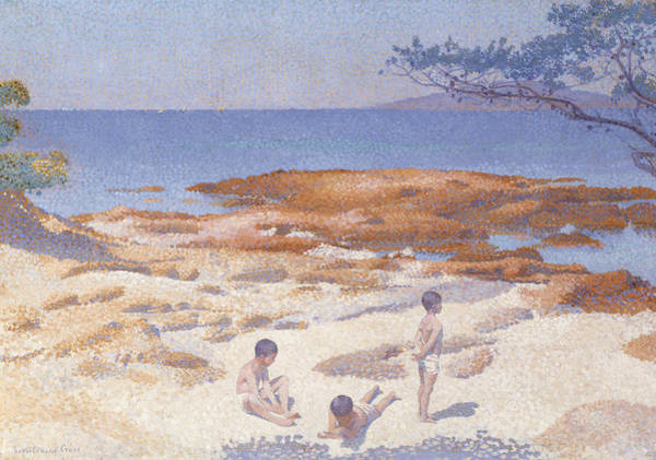 Wall Art - Painting - Beach At Cabasson by Henri-Edmond Cross