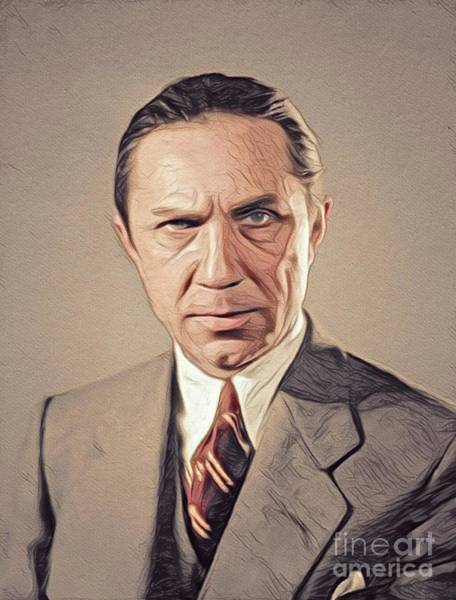 Wall Art - Digital Art - Bela Lugosi, Vintage Hollywood Actor by John Springfield