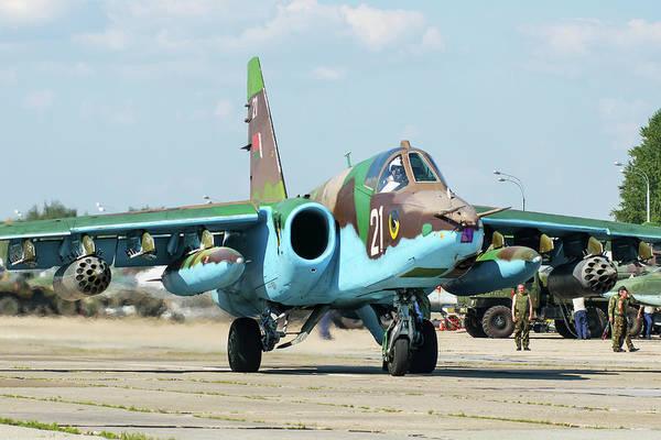 Photograph - Belarusian Air Force Su-25 Attack by Daniele Faccioli