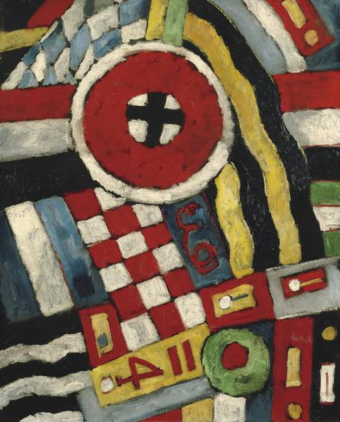 Wall Art - Painting - Berlin Abstraction  by Marsden Hartley