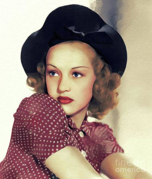 Wall Art - Painting - Betty Grable, Vintage Movie Star by John Springfield