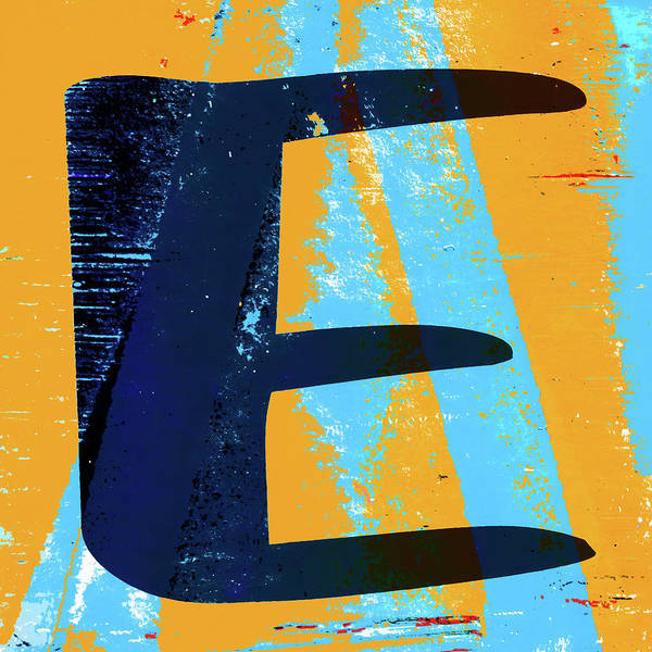 Wall Art - Photograph - Big Letter E Square by Carol Leigh