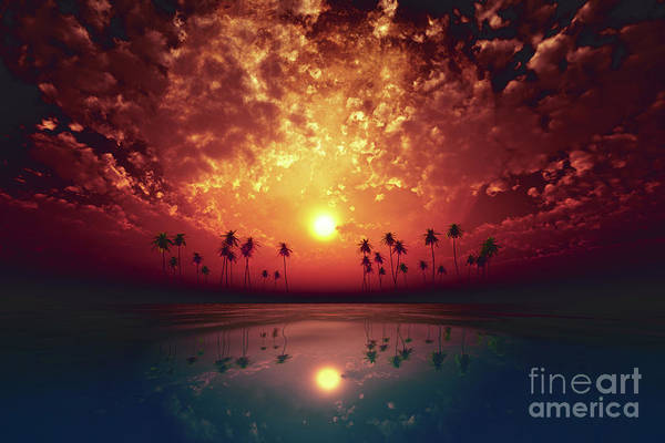 Wall Art - Photograph - Big Moon Over Red Sunset by Aleksey Tugolukov