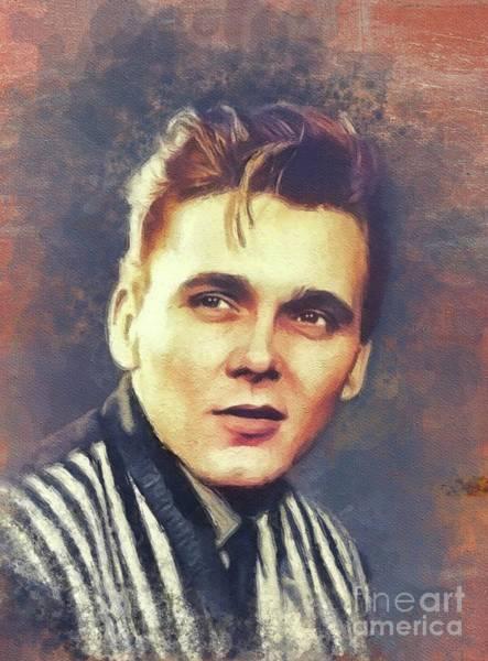 Wall Art - Painting - Billy Fury, Music Legend by John Springfield