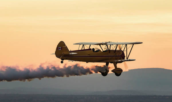 Wall Art - Photograph - Biplane Fly-by At Madras Airshow, Oregon by William Sutton