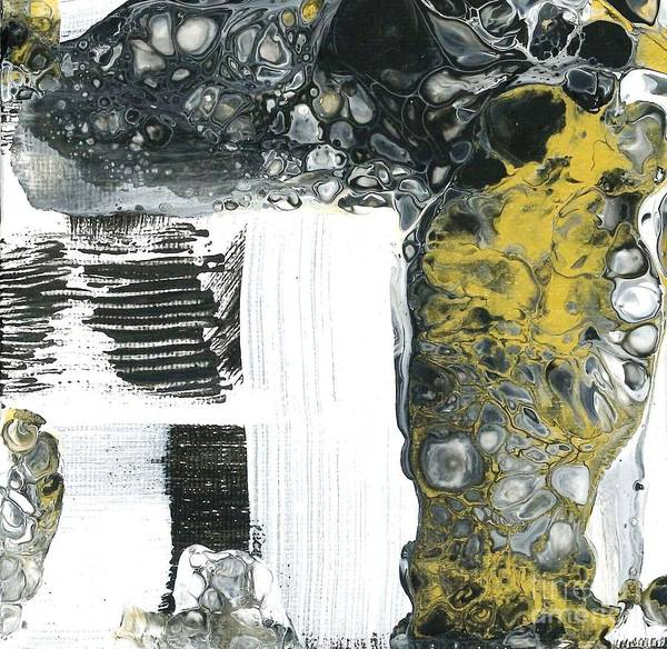 Painting - Black White And Gold Detail 4 by Angelika GAIGL