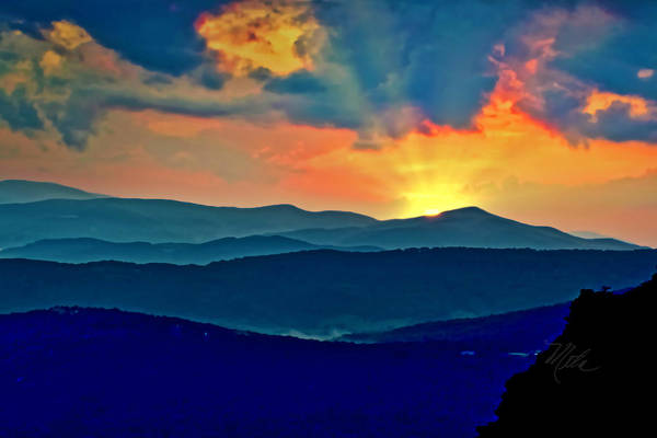 Photograph - Blue Ridge Mountains Sunset by Meta Gatschenberger