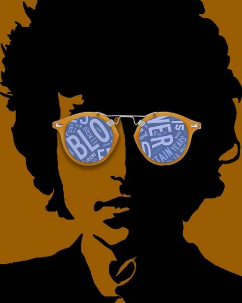 Folk Singer Mixed Media - Bob Dylan Blowin In The Wind by Marvin Blaine