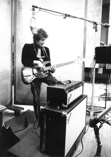 Harmonica Photograph - Bob Dylan Records Bringing It All Back by Michael Ochs Archives