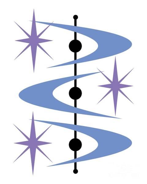 Digital Art - Boomerangs And Stars by Donna Mibus