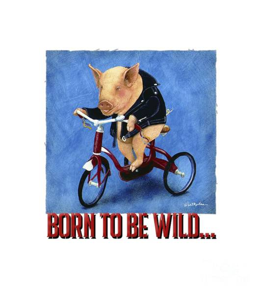 Wall Art - Painting - Born To Be Wild... by Will Bullas