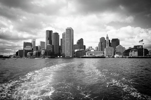 Cloudscape Photograph - Boston Skyline by Angiephotos