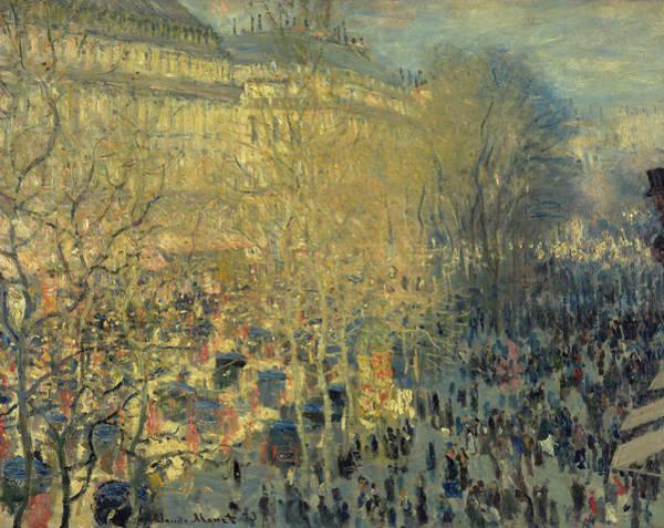 Parisian Cafe Painting - Boulevard Des Capucines, 1873 by Claude Monet