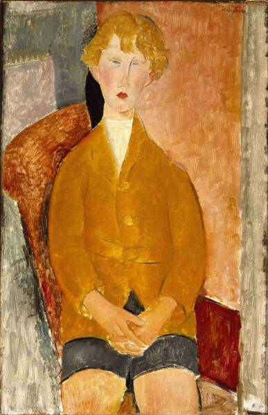 Wall Art - Painting - Boy In Short Pants  by Amedeo Modigliani