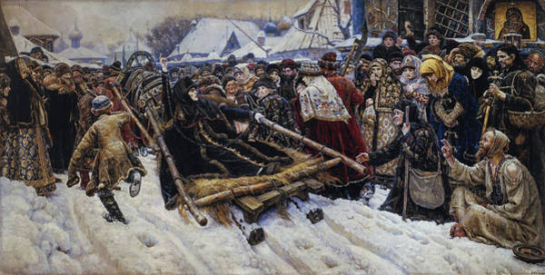 Believers Painting - Boyarina Morozova by Vasily Surikov