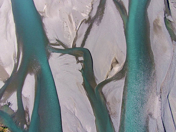 Wall Art - Photograph - Braided Streams Of The Rakaia River by David Wall
