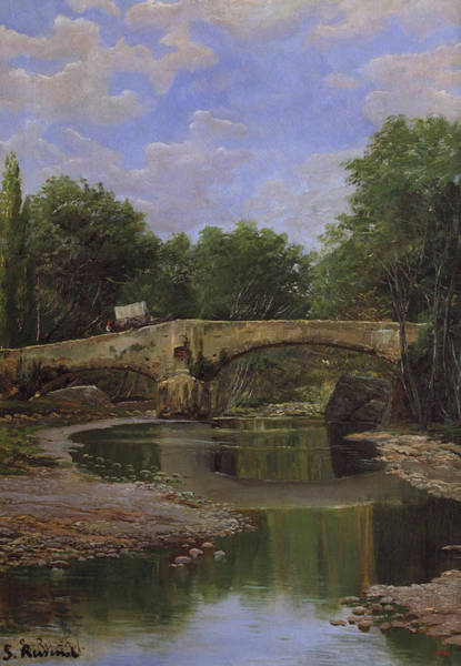 Painting - Bridge Over A River by Santiago Rusinol
