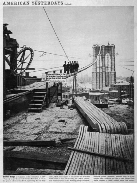 Site Photograph - Brooklyn Bridge by Hulton Archive