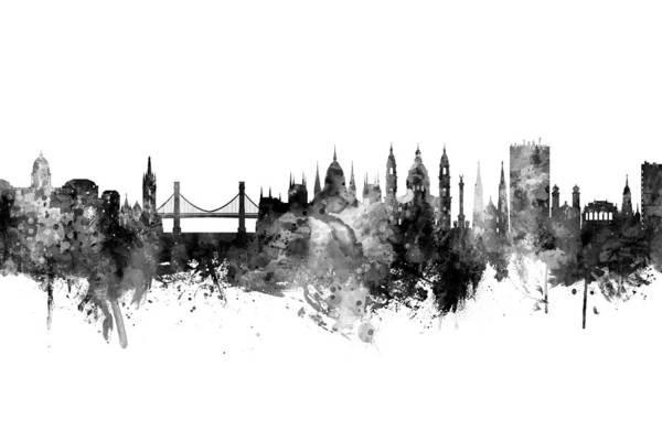 Wall Art - Digital Art - Budapest Hungary Skyline by Michael Tompsett