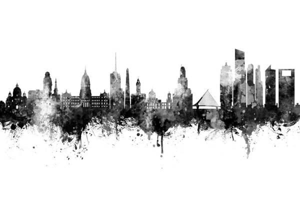 Wall Art - Digital Art - Buenos Aires Argentina Skyline by Michael Tompsett
