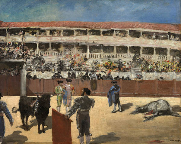 Wall Art - Painting - Bullfight by Edouard Manet