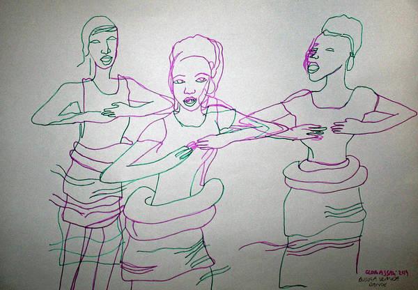 Painting - Busoga Traditional Dance Uganda by Gloria Ssali