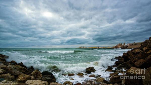 Photograph - Cadiz Skyline From Santa Maria Del Mar Beach Spain by Pablo Avanzini