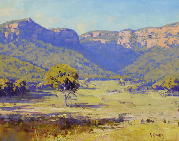 Wall Art - Painting - Capertee Valley Australia by Graham Gercken