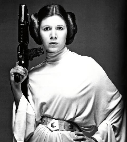 Episode Iv Wall Art - Photograph - Carrie Fisher In Star Wars Episode Iv-a New Hope -1977-. by Album