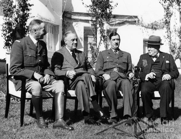 Photograph - Casablanca Conference by Granger