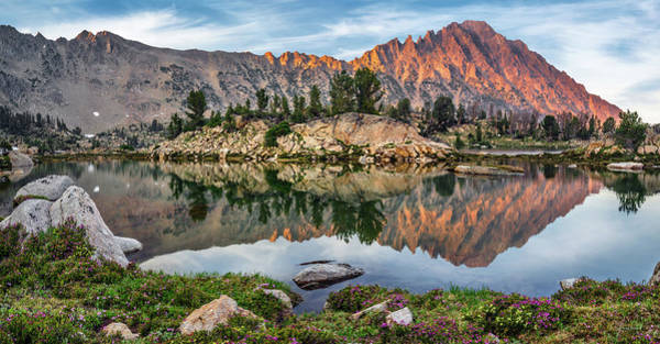 Altitude Photograph - Castle Peak Reflection by Leland D Howard