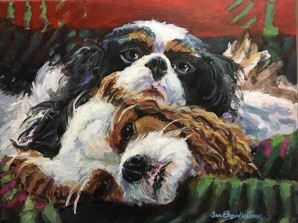 Wall Art - Painting - Cavalier Attitude by Susan Elizabeth Jones