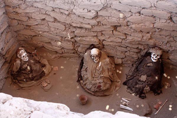 Photograph - Chauchilla Cemetery Mummies, Nazca, Peru by Aidan Moran