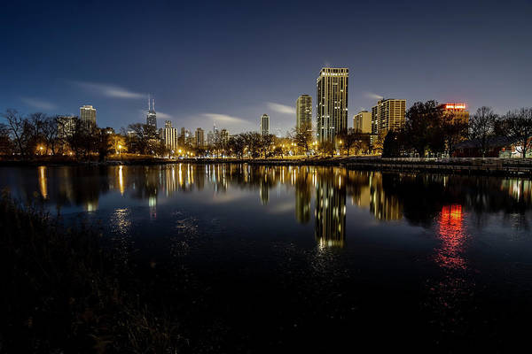 Photograph - Chicago Skyline At Dawn  by Sven Brogren