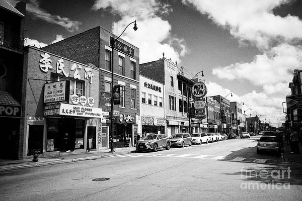 Wall Art - Photograph - chinese and asian restaurants and stores in chicago chinatown IL USA by Joe Fox