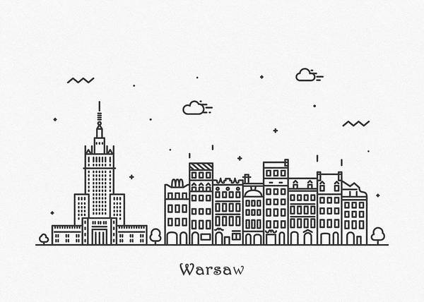 Drawing - Chisinau Cityscape Travel Poster by Inspirowl Design