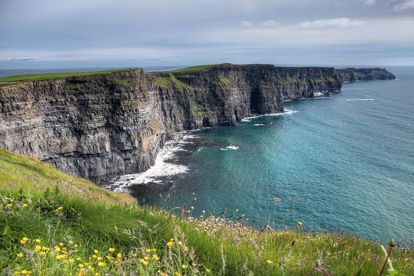 The Burren Photograph - Cliffs Of Moher, Ireland by Espiegle