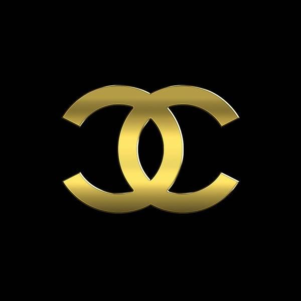 Wall Art - Digital Art - Coco Chanel.logo by Chanel Logo