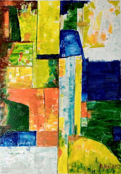 Wall Art - Painting - Color Composition by Anand Swaroop Manchiraju