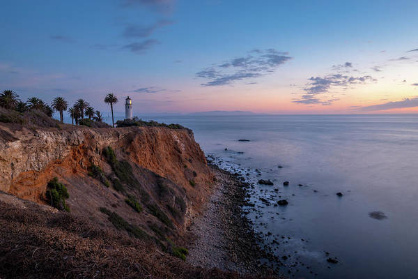 Photograph - Colorful Sky After Sunset At Point Vicente Lighthouse by Andy Konieczny