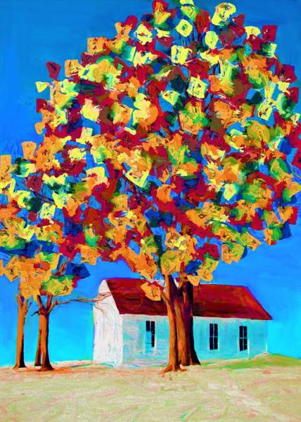 Wall Art - Painting - Colorful Tree by ArtMarketJapan