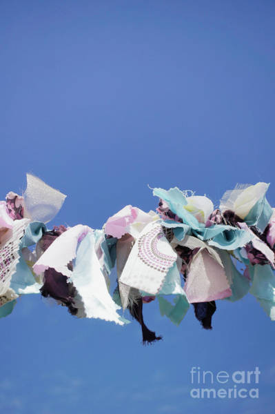 Wall Art - Photograph - Colourful Cloth Bunting  by Tom Gowanlock