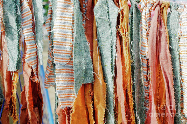 Wall Art - Photograph - Colourful Cloth Decoration by Tom Gowanlock