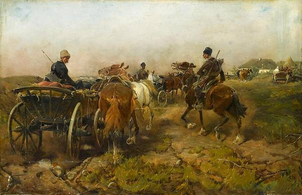 Wall Art - Painting - Cossacks Returning Home On Horseback by MotionAge Designs