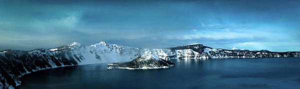 Oregon Ridge Photograph - Crater Lake In Winter by Terry Schmidbauer