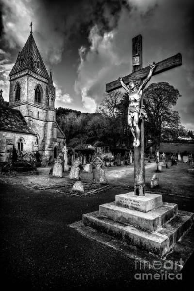 Cemetaries Wall Art - Photograph - Crucifixion Of Jesus by Adrian Evans